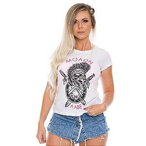 Camiseta Militar Baby Look Feminina Molon Labe