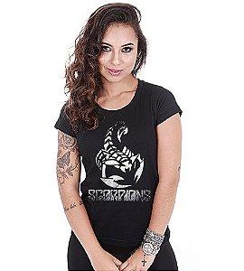 Camiseta Baby Look Feminina Banda de Rock Scorpions