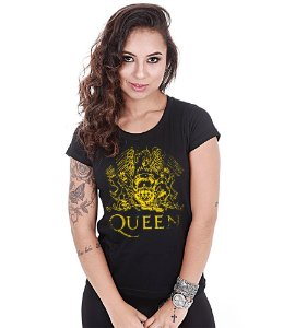 Camiseta Baby Look Feminina Banda de Rock Queen