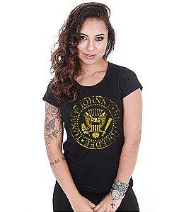 Camiseta Baby Look Feminina Banda de Rock Ramones