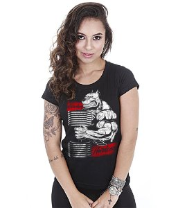 Camiseta Academia Baby Look Feminina Hardcore Old School