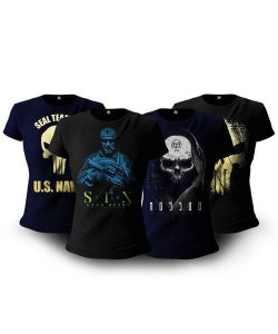 Kit Soldier 4 Camisetas Militares Femininas