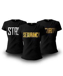 Kit Segurança 03 Camisetas Baby Look Feminina