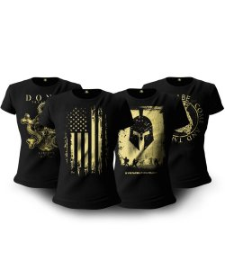 Kit 04 Camisetas Baby Look Feminina Soldiers Of Fortune