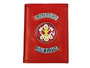 Carteira Bombeiro Militar Com Porta Funcional e Distintivo Vermelha