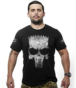 Camiseta Militar Punisher Bart