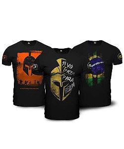 Kit 03 Camisetas Militares Masculinas Si Vis Pacem