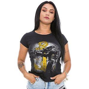 Camiseta Militar Baby Look Feminina Marinha Tactical