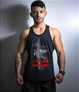 Camiseta Regata Militar This Is The Tool I am the weapon