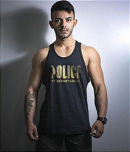 Camiseta Regata Militar New York Police Gold Line