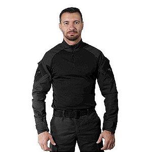 Combat Shirt Preta Bélica Steel Masculina