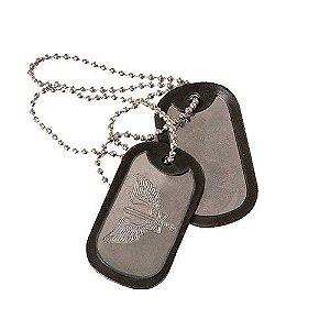 Plaqueta de Identificação Dog Tag Militar Aeronáutica