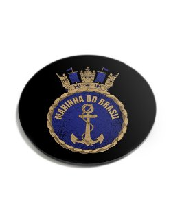 Porta Copos Militar Marinha do Brasil Acrílico