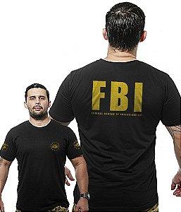 Camiseta Militar Wide Back FBI Federal Bureal Of Investigation