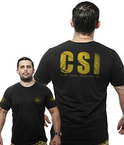 Camiseta Militar Wide Back CSI Crime Scene Investigation
