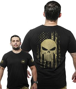 Camiseta Militar Wide Back EUA Punisher