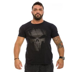 Camiseta Militar Dark Line Justiceiro Punisher
