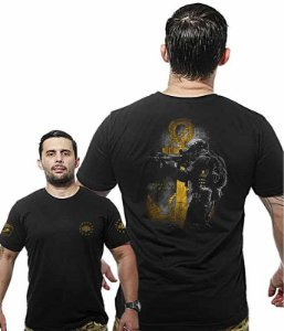 Camiseta Militar Wide Back Marinha Tactical