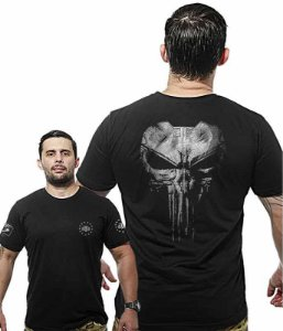 Camiseta Militar Wide Back Punisher Plate