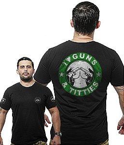 Camiseta Militar Wide Back I Love Guns And Titties