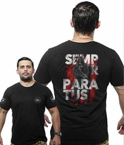 Camiseta Militar Wide Back Semper Paratus