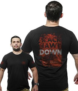 Camiseta Militar Wide Back Black Hawk Down