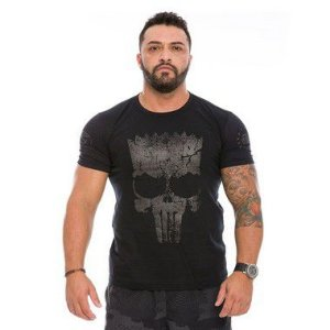 Camiseta Militar Dark Line Punisher Bart