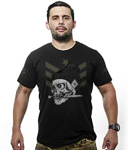 Camiseta Militar Concept Line Team Six Knife Skull Squad