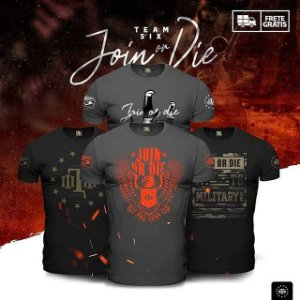 Kit 4 Camisetas Militares Masculinas Concept Line Join Or Die