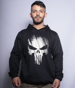 Casaco Militar Com Capuz Punisher