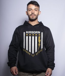 Casaco Militar Com Capuz Airborn Honor And Glory