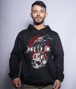 Casaco Militar Com Capuz Concept Line Team Six Crow Join Or Die