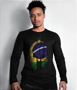 Camiseta Manga Longa Si Vis Pacem Para Bellum Brasil