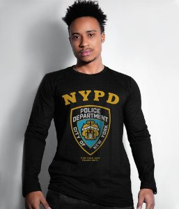 Camiseta Manga Longa Police Department NYPD