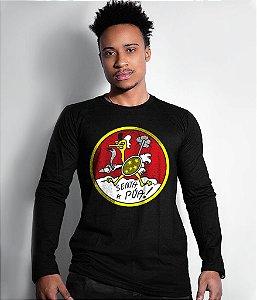 Camiseta Manga Longa Senta a Púa