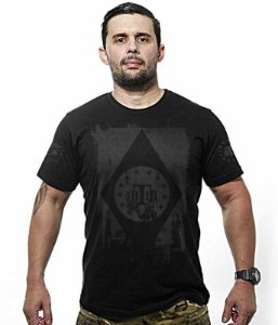 Camiseta Militar Dark Concept Line Team Six Tactical Flag Brasil