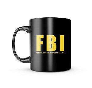 Caneca Dark Militar FBI Federal Bureal Of Investigation