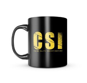 Caneca Dark Militar CSI Crime Scene Invetigation