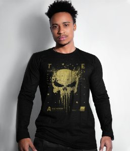 Camiseta Manga Longa New Punisher Gold Line