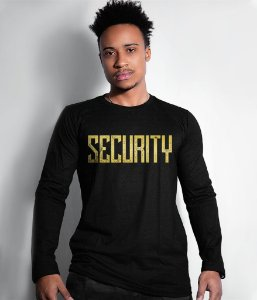 Camiseta Manga Longa Security Gold Line