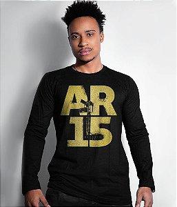 Camiseta Manga Longa Magnata AR15 Gold Line
