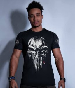 Camiseta Squad T6 GUFZ6 Punisher Skull