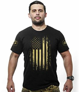 Camiseta EUA Especial Defense Military Gold Line