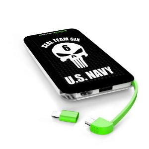 Carregador Portátil Power Bank Parabellum Punisher US Navy Seal