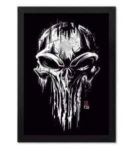 Poster com Moldura The Punisher Skull