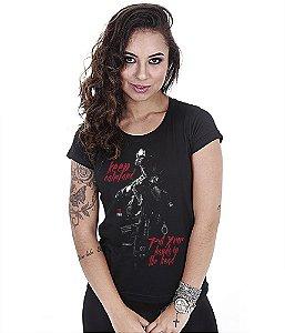 Camiseta Militar Baby Look Feminina GUFZ6 Keep Calm And Put Your Hands In The Head