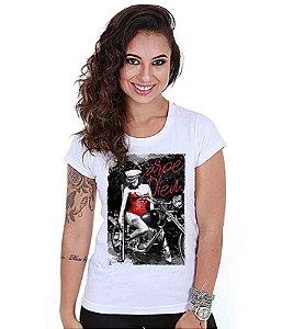 Camiseta Militar Baby Look Feminina GUFZ6 Carpe Diem
