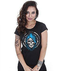 Camiseta Militar Baby Look Feminina GUFZ6 Mossad Força Especial
