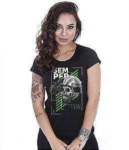 Camiseta Militar Baby Look Feminina GUFZ6 Semper Fi Night Vision Gear