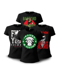 Kit 04 Camisetas Baby Look Feminina Infamous
